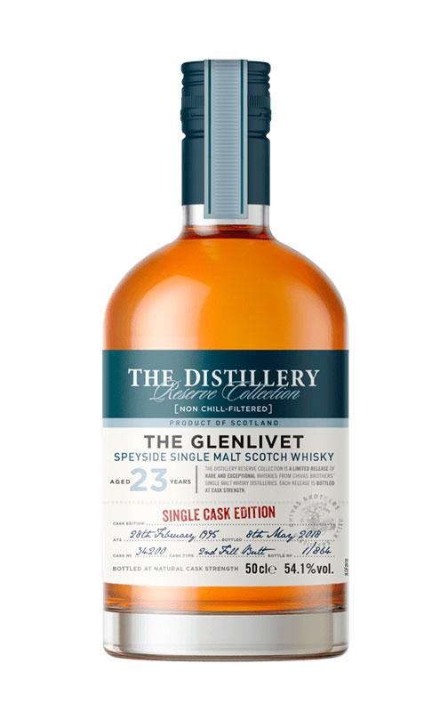 single malt scotch whisky: The Glenlivet 23 Y.O. Single Cask Edition Butt 3